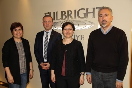 The president, Aysegul Cerci and board member Emre Ogmen paid a courtesy visit to Turkish Fulbright Commission