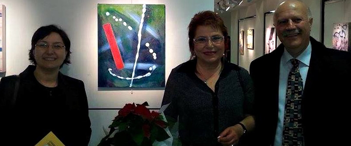 "Humphrey alumni Necat Ozgur's (1983-1984) spouse Canan Ozgur opened her personal painting exhibition titled as ""Abstract Syntesis"" in December 2014"